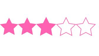 3:5 stars